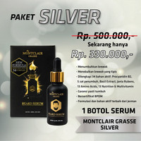 Obat Penumbuh Rambut Brewok Janggut Montclair Silver ORIGINAL