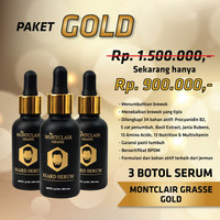 Obat Penumbuh Rambut Brewok Janggut Montclair Gold ORIGINAL