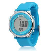 Jam tangan digital anak perempuan cantik anti air 50M BIRU MURAH