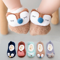 Coral Fleece Cute Cartoon Soft Animal Pattern Baby Socks