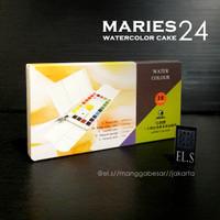 Maries Watercolour Cake set 24 Warna ( Cat Air )