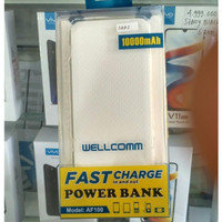 Wellcomm Powerbank AF100 10000 mAh - Fast Charge 3.0