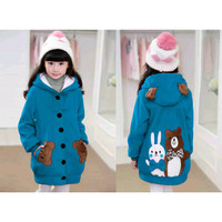 Jaket Hoodie Funny Rabbit & Bear Kid Turkish