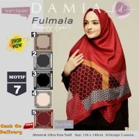 Jilbab Segiempat Fulmala Syari Ultra Fine Twill Motif 7 by Damia Scarf