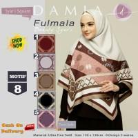 Jilbab Segiempat Fulmala Syari Ultra Fine Twill Motif 8 by Damia Scarf