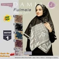 Jilbab Segiempat Fulmala Syari Ultra Fine Twill Motif 1 by Damia Scarf