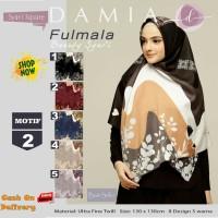 Jilbab Segiempat Fulmala Syari Ultra Fine Twill Motif 2 by Damia Scarf