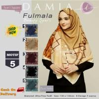 Jilbab Segiempat Fulmala Syari Ultra Fine Twill Motif 5 by Damia Scarf
