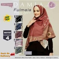 Jilbab Segiempat Fulmala Syari Ultra Fine Twill Motif 4 by Damia Scarf