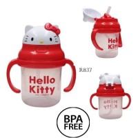 Straw Training Cup HK Botol Minum Hello Kitty