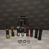 Handgrip Sarung Gas Rizoma Premium CNC Hitam Merah Silver Gold