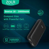 ZOLA Powerbank Genius 20, 20000mAh Fast Charging 2.1A