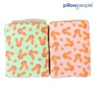 [PP] Soft Blanket / Selimut bulu - Rabbit GREEN 120 x 150