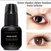 nagaraku black glue eyelash extension lem bulumata sambung Tidak pedih