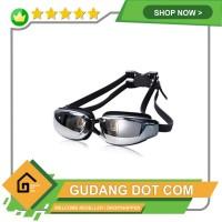 RUIHE Kacamata Renang Anti Fog UV Protection Dewasa - RH9200 - Hitam