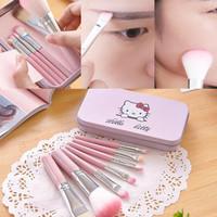 Hello Kitty Brush Kaleng 7 in 1/Kuas Hello Kitty Set Make Up Brush