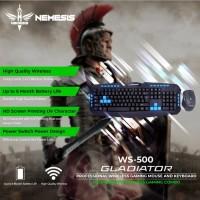 Keyboard Mouse Wireless Gaming NYK WS-500 Gladiator Garansi 1 Tahun