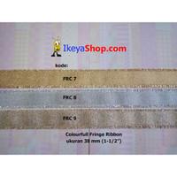 Colourful Fringe Ribbon ukuran 3,8 cm (1-1/2″)