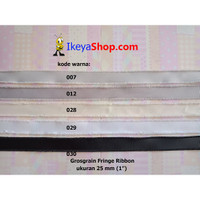 Grosgrain Fringe Ribbon ukuran 2,5 cm (1″) page 1