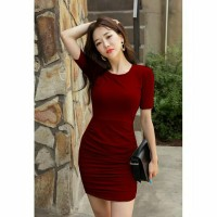 Bodycon Dress Tangan Pendek Gaya Korea Terbaru - Tania Dress