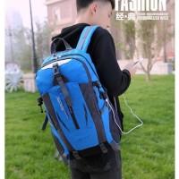 tas ransel outdoor - tas gendong pria keren / backpack USB