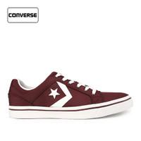 Sepatu Converse Pria Sneakers El Distro Maroon Original