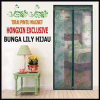 Tirai Pintu Magnet Hongxin Original Lily HIjau