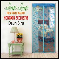 Tirai Pintu Magnet Hongxin Original Daun Biru
