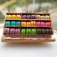 Baby Macaron (Macaroon) Box isi 27pcs/Cookies/Kue Kering