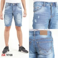 Celana Pendek Sobek Ripped Jeans Non Strech Pria Modis Trendy Gaul
