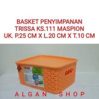 Keranjang Plastik +Tutup Trissa S KS111 3.7L Maspion Storage Basket