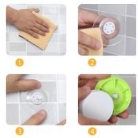 rak sudut serbaguna plastik tanpa paku - toilet dinding kamar mandi