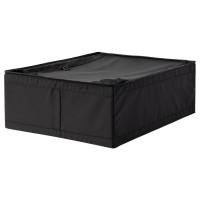 SKUBB BOX Tempat penyimpanan dgn retsleting penutup,HITAM 44x55x19 cm