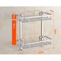Alumunium Rak Dinding Toilet Kamar Mandi Aluminium