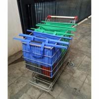 StarHome Kantong Belanja IMPORT Tas Trolley Grab Bag isi 4 - Tas