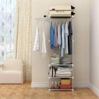 Stand hanger rak/Rak lemari pakaian serbaguna tanpa cover