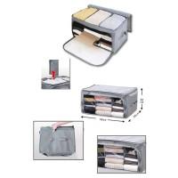 STORAGE BOX 2 PINTU BESAR/FOLDABLE CLOTH/ TEMPAT PAKAIAN SERBAGUNA