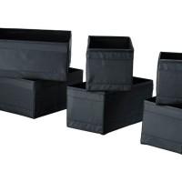 SKUBB, Kotak, set 6 unit, hitam