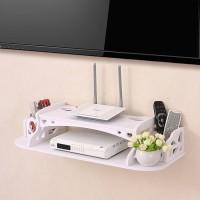 Tempat Router Wifi + Majalah + Remote Rak Tembok Bawah TV Gantung