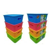 L Trissa Keranjang Penyimpanan dengan Penutup / Storage Basket Kotak
