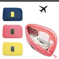 cable pouch . dompet gadget charger powerbank travel organizer