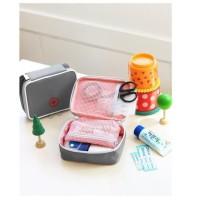 Tas Kotak P3K/First Aid/Pertolongan Pertama Warna Pink/Abu-Abu Untuk