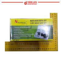 PROMO Hole Saw Kit / Holesaw Kit / Mata Bor Pelubang Kayu Nankai 13 pc