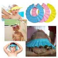 topi keramas anak dengan kancing/topi mandi anak/pelindung mata bayi