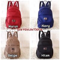 KL601Tas Wanita Import Backpack Zipper KLUM Super Quality Unisex