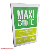 Kertas HVS F4 70 Gram Gsm MAXI BRITE Setara COPY PAPER Putih Polos