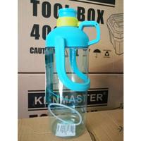 Botol Air Minum Ukuran Jumbo 2 Liter / 2000ml Praktis Ada Pegangannya