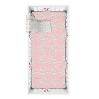 Mooi Sprei Crib Fitted Sheet Box Bayi (PINK CARNIVAL)