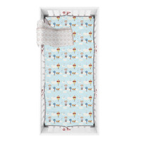 Mooi Sprei Crib Fitted Sheet Box Bayi (VINTAGE BALON UDARA)
