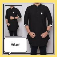 Harga fashion atasan muslim pakaian kurtal pria kemeja hem baju koko | antitipu.com